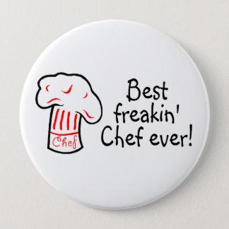 Bester Freakin Koch überhaupt Runder Button 10,2 Cm