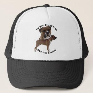 Bester Freund-Amerikaner-Bulldogge Truckerkappe