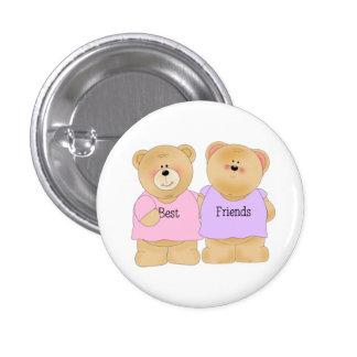 Bester Freund-Bären Runder Button 3,2 Cm