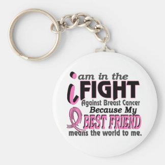 Bester Freund bedeutet die Welt zu mir Brustkrebs Standard Runder Schlüsselanhänger