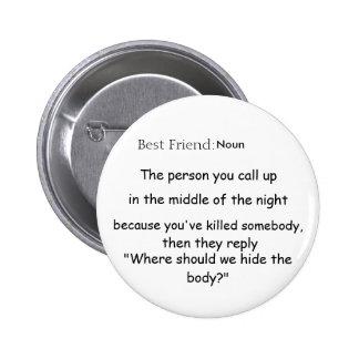 Bester Freund Def Runder Button 5,7 Cm