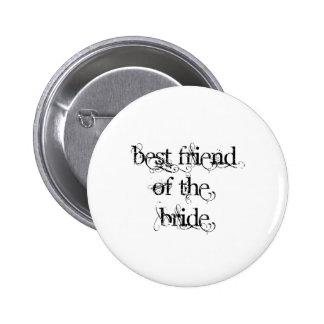 Bester Freund der Braut Runder Button 5,1 Cm