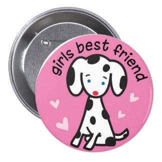 bester Freund der Mädchen Runder Button 7,6 Cm