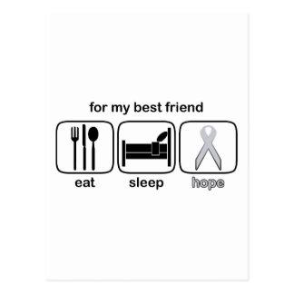 Bester Freund essen Schlaf-Hoffnung - Lungenkrebs Postkarte
