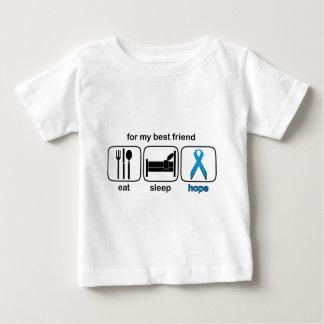 Bester Freund essen Schlaf-Hoffnung - Lymphom Baby T-shirt