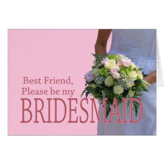 Bester Freund ist bitte Brautjungfer Karte
