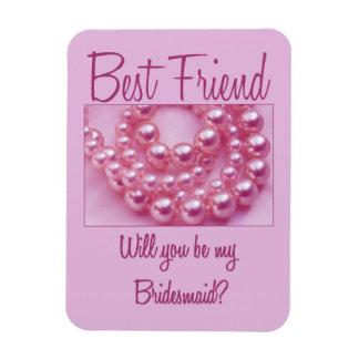 Bester Freund ist bitte Brautjungfer Eckige Magnete