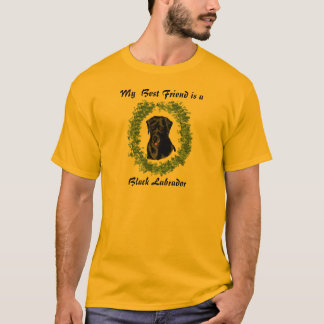 Bester Freund ist ein schwarzes Labrador T-Shirt