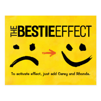 Bester Freund-Postkarte, der Bestie Effekt Postkarte