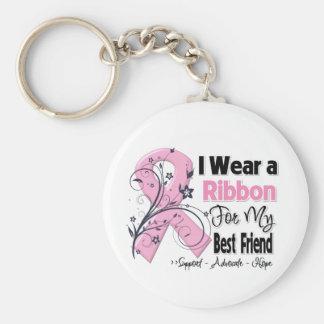 Bester Freund - Rosa Brustkrebs Schleife Standard Runder Schlüsselanhänger