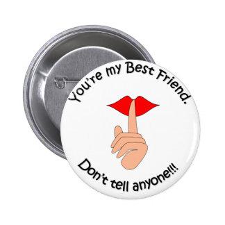 Bester Freund Runder Button 5,7 Cm