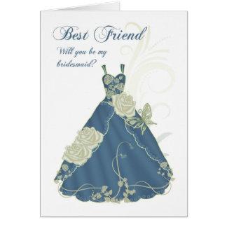 Bester Freund sind Sie meine Brautjungfern-Karte - Karte