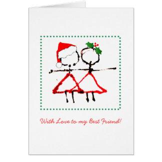 Bester Freund-Weihnachtskarte Karte