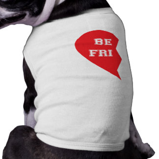 Bester Freund-zusammenpassende Hunde Ärmelfreies Hunde-Shirt