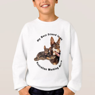 Bester Freundaustralisches ArbeitsKelpie ROT TAN Sweatshirt