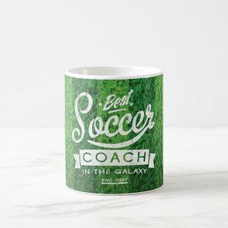 Bester Fußball-Trainer in der Galaxie Kaffeetasse