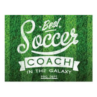 Bester Fußball-Trainer in der Galaxie Postkarte