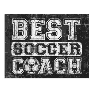 Bester Fußball-Trainer Postkarte