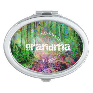 Bester Großmutter-überhaupt - Holz - Vertrag Taschenspiegel