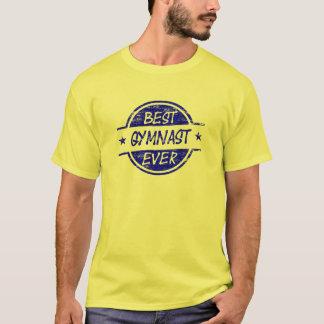 Bester Gymnast überhaupt blau T-Shirt