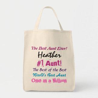 Bester individueller Name Tanten-Ever Einkaufstasche