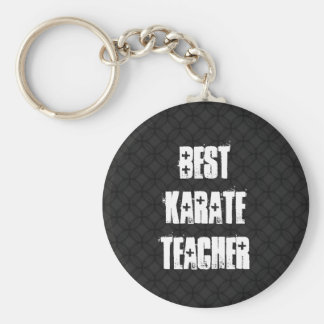 Bester Karate-Lehrer-Schwarzweiss-Schmutz-Geschenk Schlüsselanhänger
