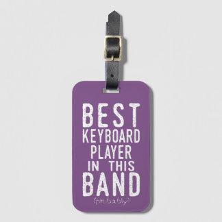 Bester Keyboarder (vermutlich) (weiß) Kofferanhänger