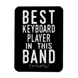 Bester Keyboarder (vermutlich) (weiß) Magnet