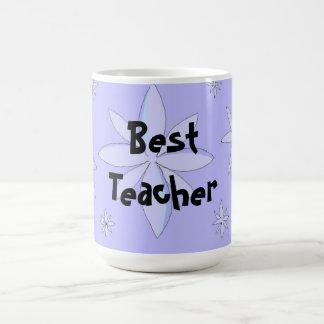 Bester Lehrer-Schneeflocke-Entwurf Kaffeetasse