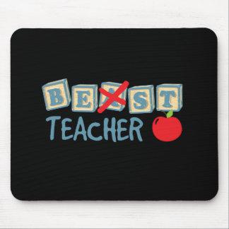 Bester Lehrer-Text Mousepad