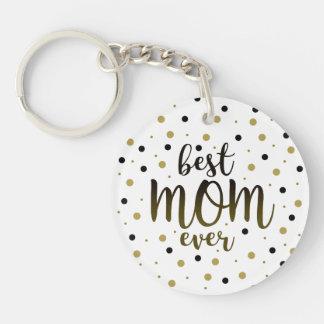 Bester Mamma-überhaupt goldener schwarze Schlüsselanhänger