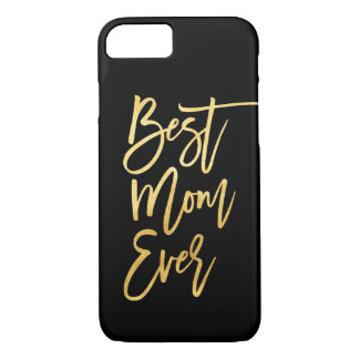 Bester Mamma-überhaupt Goldtelefon-Kasten iPhone 8/7 Hülle