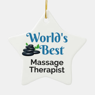 Bester Massagetherapeut der Welt Keramik Ornament