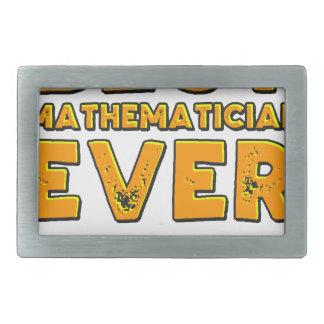 Bester Mathematiker überhaupt Rechteckige Gürtelschnalle