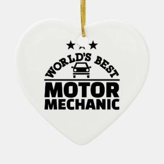 Bester Mechaniker der Welt Bewegungs Keramik Ornament
