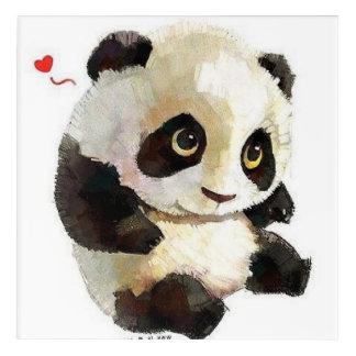 bester niedlicher und reizend Schwarzweiss-Panda Acryldruck