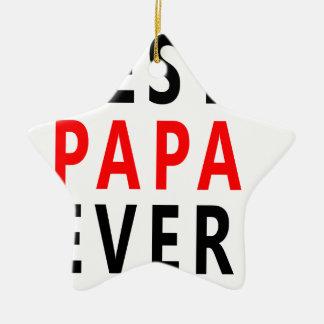 Bester Papa überhaupt Keramik Ornament
