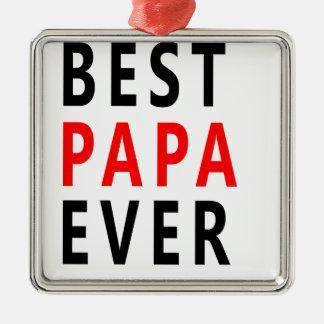 Bester Papa überhaupt Silbernes Ornament