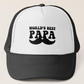 bester Papaschnurrbart der Welt Truckerkappe