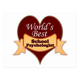 Bester Psychologe der Welt Schul Postkarte