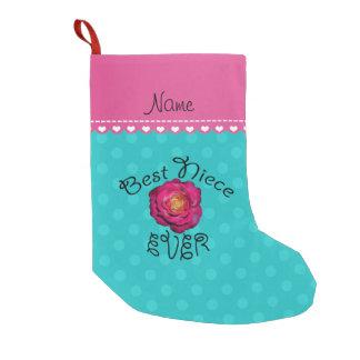 Bester Rosa-Rosentürkis-Polkanamenspunkt der Kleiner Weihnachtsstrumpf
