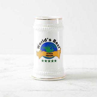 Bester Schulvorsteher der Welt Bierglas