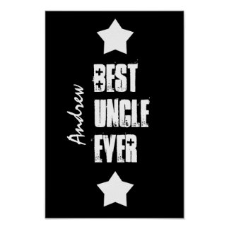 Bester Schwarz-weißer individueller Name A04 Poster