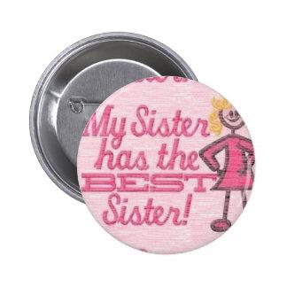 bester Schwester-Spaß Runder Button 5,1 Cm