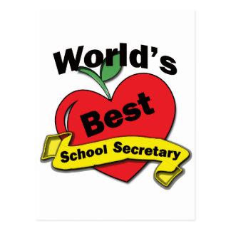 Bester Sekretär der Welt Schul Postkarte