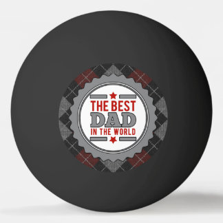 Bester Vati im WeltRauten-Grau Tischtennis Ball