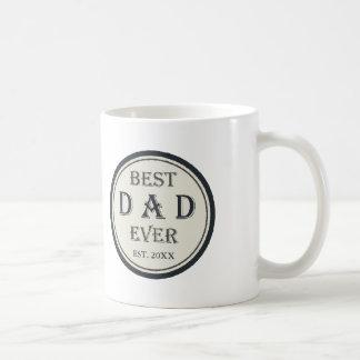 Bester Vati überhaupt EST. personalisierte Kaffeetasse