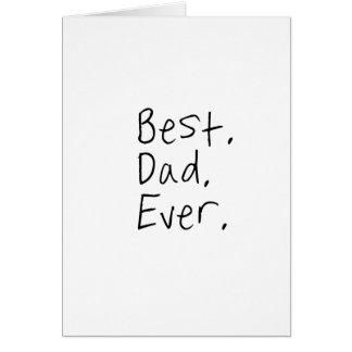 Bester Vati überhaupt. Vatertagsgeschenk Grußkarte