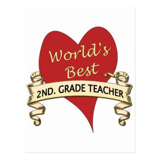 Bestes 2. der Welt. Grad-Lehrer Postkarte