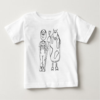 Bestes angehobene Bio Gemüseanbaubibel des Betts Baby T-shirt